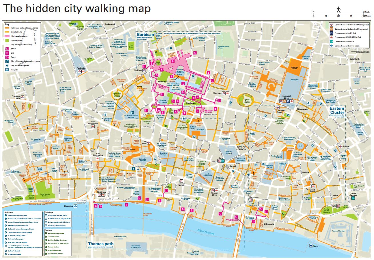 Map To London.The Hidden City Walking Map Business Healthybusiness Healthy