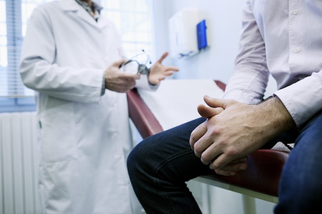 Image of a man at a medical consultation
